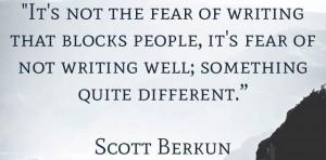 страх писательства