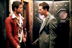 Brad Pitt and Edward Norton in Fight Club, 1999